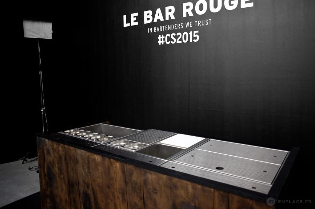 Bar mobile - Le Bar Rouge - Cocktails Spirits 2015