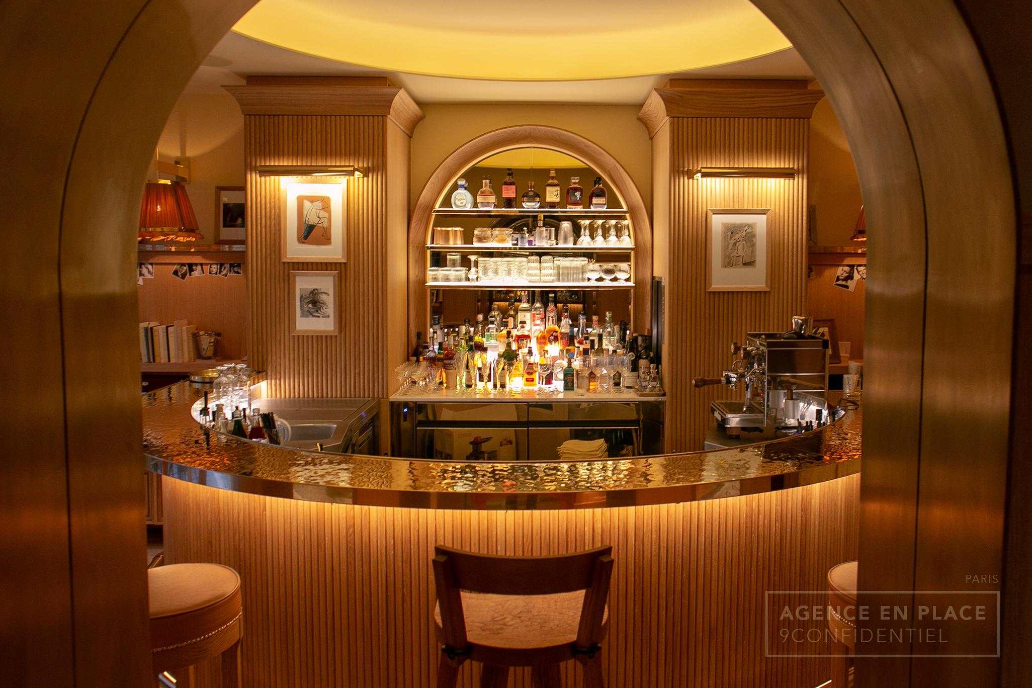 Amenagement De Bar Professionnel hôtel 9confidentiel - paris - agence en place